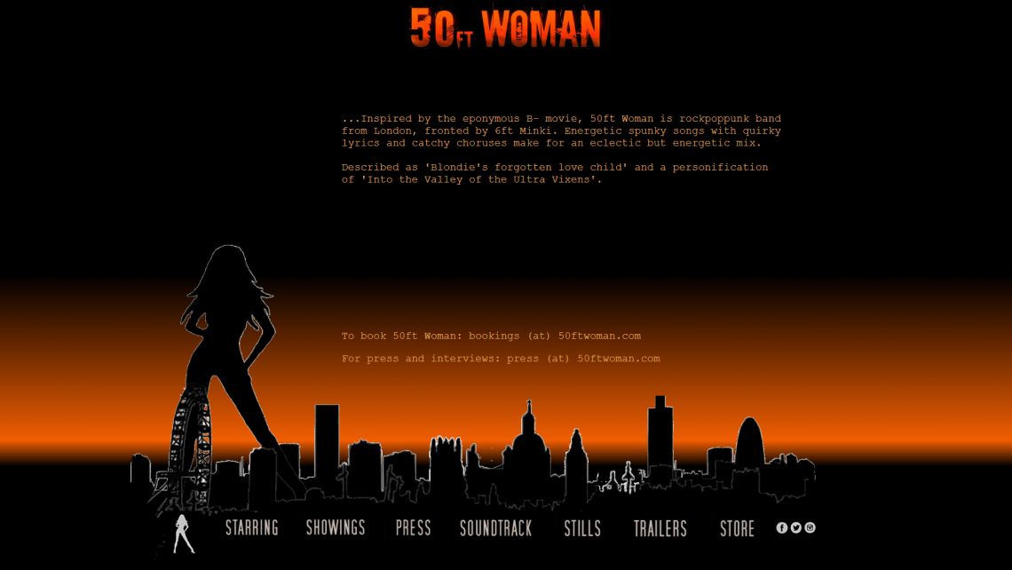 50ft woman website home pae
